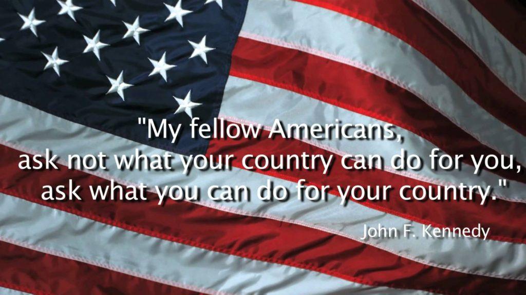 US Flag JFK ask not