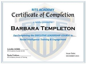 RITE Academy Law Enforcement Leadership Training, Certificate Of Completion  Certificate Of Completion Training