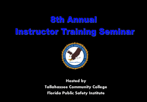 8th Annual Instructor Training Seminar