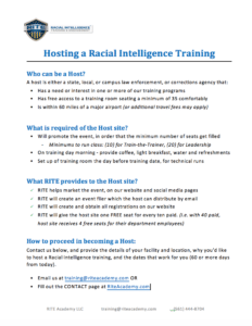 become a host site for racial intelligence training