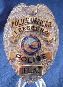 Leesburg-Police FL badge