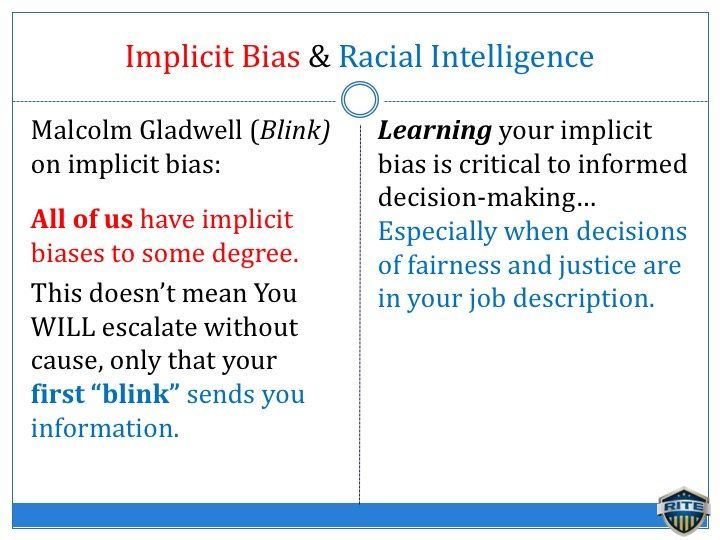 racial intelligence and implicit bias
