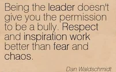 being the leader quote