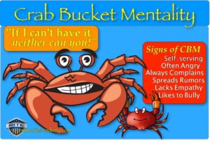 RITE crab bucket mentality signs