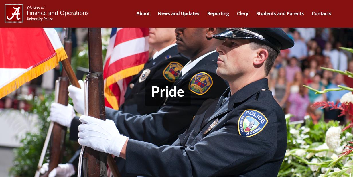 UA Police pride