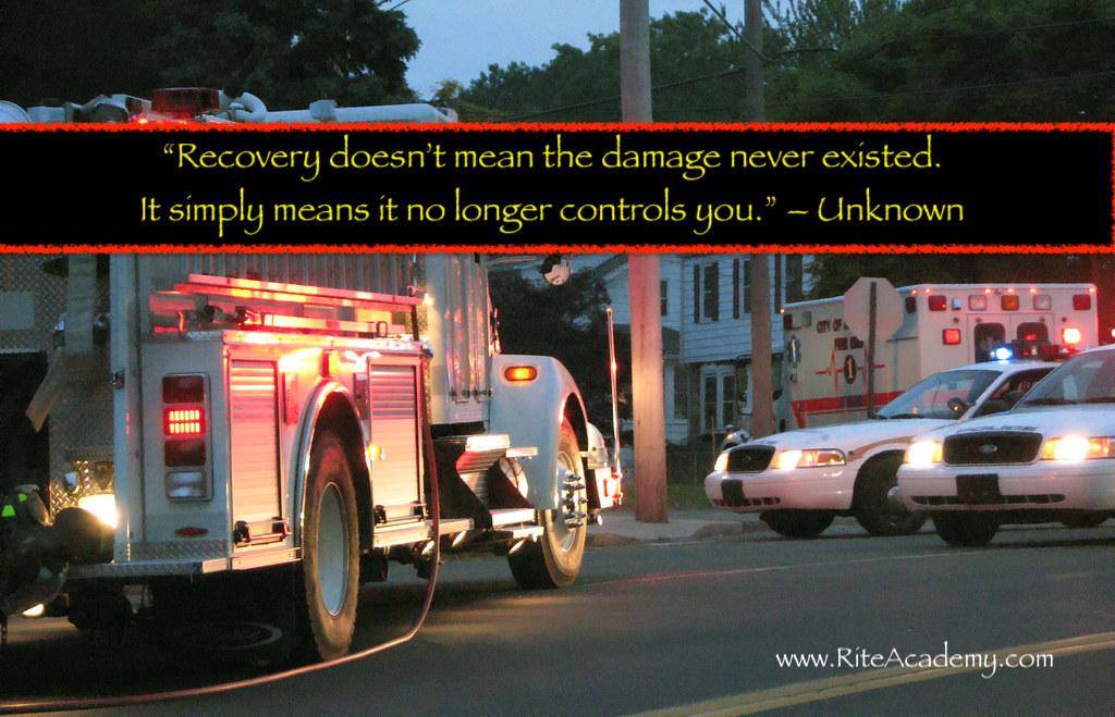 fire truck police car ptsd rite